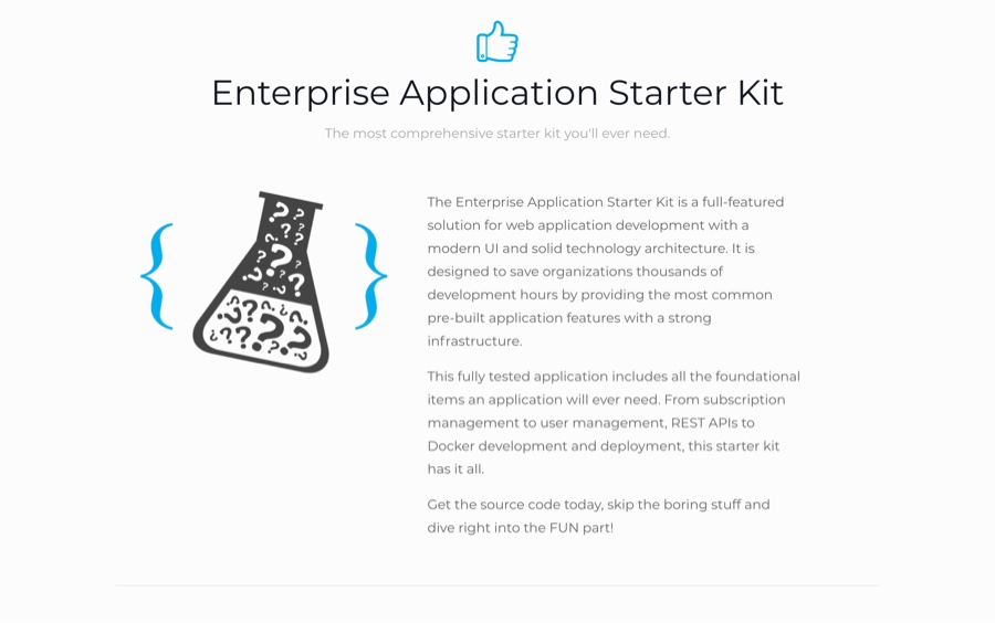 Enterprise Application Starter Kit